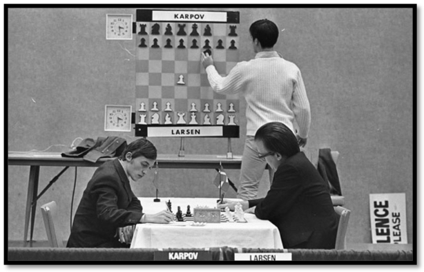 Karpov and Larsen play their opening moves