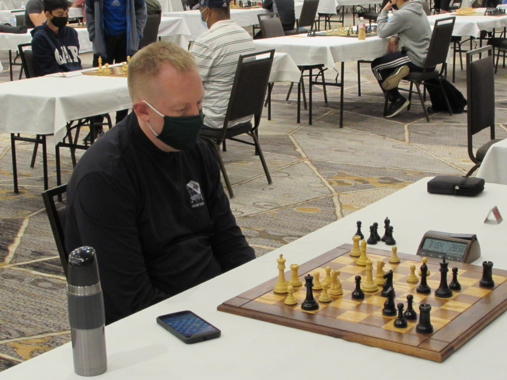 Chess Expert Tim Steiner. Photo by Arlington Chess Club's Jim Clarke.